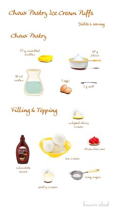 The French choux can be made in minutes and be turned into amazing sweet and savoury pastries. Learn how to make the choux base here > Check out the full recipe~ Cake Illustration, Food Illustrations, Savory Pastry, Choux Pastry, Recipe Drawing, Cake Recipes, Snack Recipes, Cream Puff Recipe, Cake Decorating With Fondant
