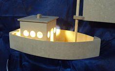 Luartebaby Artesanato: Luminária barquinho decorativo para quarto de bebe...
