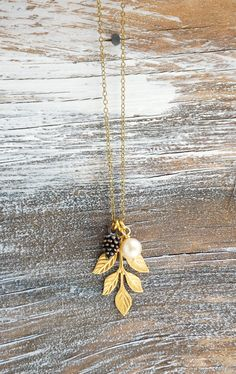 Pine Cone Leaf Necklace