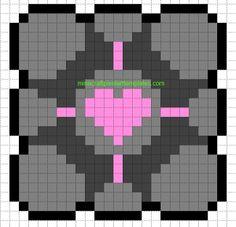 Minecraft Pixel Art Templates: Companion Cube