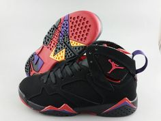Nike Air Jordan Retro 7 Basketball Shoes Men And Women Black Red Original Packing Seal Rubber Hole|only US$98.00 - follow me to pick up couopons.