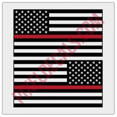 American Flag Decals - 1 Color w/ Blue Line American Flag Blue Line, American Flag Decal, Displaying The American Flag, Decals, Truck Accessories, Red, Jeeps, Color, Tags