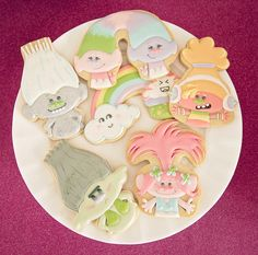Troll cookies from a Trolls Inspired Birthday Party on Kara's Party Ideas | KarasPartyIdeas.com (23)