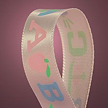 Children's Abc On Satin Ribbons