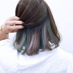 Pastels beneath - New Site Bad Hair, Hair Day, Underlights Hair, Hair Streaks, Aesthetic Hair, Dye My Hair, Hair Looks, Pretty Hairstyles, Curly Hair Styles