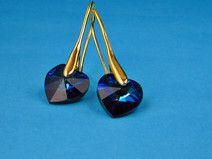 swarovski sapphire kolczyki