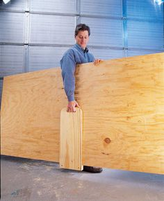 "Plywood Carrier You don't have to be built like an orangutan to carry plywood! This simple carrier extends your reach and turns an awkward job into an easy one. It's quick to build out of 3/4"" plywood, a scrap of 2 x 2, some glue and a few screws. Clarence C. Kositzke My Take Well, we've all been there, right? The only thing you don't see are the dimensions. This …"