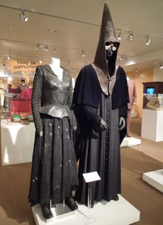 Bellatrix Lestrange and Lucius Malfoy Death Eater costumes Harry Potter
