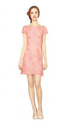 Alice & Olivia scallop edge lace dress
