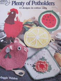 Plenty of Pot Holders Crochet Patterns 11 by OnceUponAnHeirloom