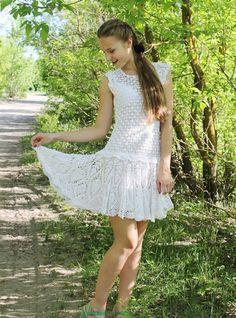 Vestido de punto Ángel Vestido de las mujeres por VeraShevchenko