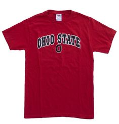 Cool item: Ohio State Buckeyes OSU T Shirt Size S Heavy Red, College T Shirts, Ohio State Buckeyes, Cool Items, How To Wear