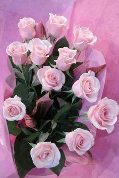 Bouquet of pale pink roses