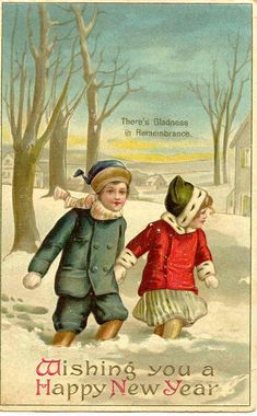 Psssst   Happy New Year    Vintage Christmas Cards   Pinterest     Vintage Christmas New Year   For free Christmas toys Arielle Gabriels The  International Society of