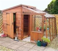 garden retreat quality combination shed greenhouse deliv erected - Garden Sheds Greenhouses Combined