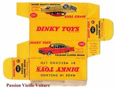 DINKY TOYS 180 : PACKARD CLIPPER boite repro / reprobox COPIE AVEC AUTORISATION | eBay