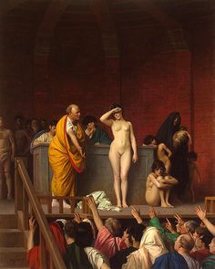 The front of that other scene? Jean-Leon Gérome : Slave Market in Ancient Rome [c.1884]