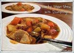 Healthy Dinner Recipe - Hearty Vegan Stew with Dumplings