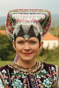 """dokudoki: """" Female folk costumes from Western Slovakia."""