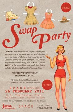 This is a great idea for some girlfriends to get together...I KNOW we all have some clothes that we could swap....