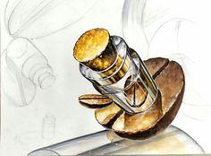 기초디자인 개체표현 코르크 유리병 커피콩 아이엠미술학원