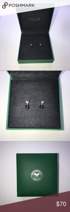 Authentic Links of London Wimbledon Earrings Never worn and still in original box!! limited edition 2013 wimbledon heart earrings!! Links of London Jewelry Earrings