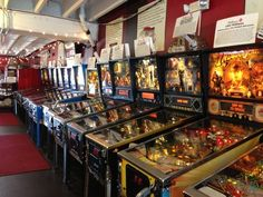 A reservoir of vintage pinball machines and arcade games for the nostalgic and thrill seeking.