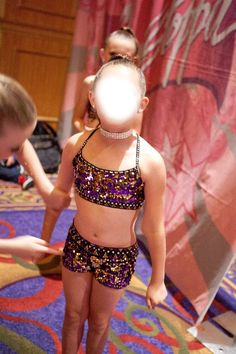 Custom Girls Competition Dance Costume Lyrical Jazz Purple Gold Black | eBay