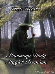 Free Two Week Trial To Moonsong Daily Magick Premium!  Click Here: http://eepurl.com/j-2XT  or email me at WiccanMoonsong@gmail.com with your name and email address.  Only name and email required, It will ask you to verify via email wink emoticon  Two Week Trial Runs From July 7, 2015 through July 21, 2015