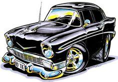 car art by chris frogett   Kurbside Kustoms Hot Rod T Shirts & Apparel: - The Koolest Hot Rod T ...