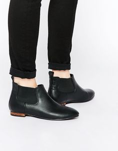 ab47a17d88fa London Rebel Owen Flat Chelsea Boots at asos.com