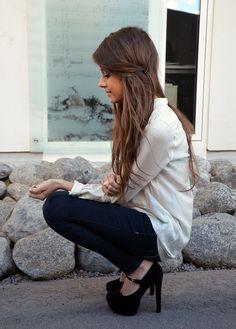 heels and hair