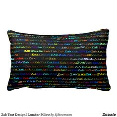 Zak Text Design I Lumbar Pillow