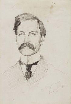 Helen McNicoll, Wm. Brymner, 1901, graphite on paper, 17.5 x 12.4 cm, Art Gallery of Ontario, Toronto. #ArtCanInstitute #CanadianArt