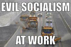 Evil socialism at work