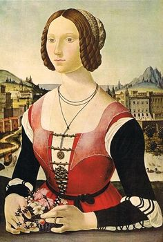 Florentine lady  A Young Lady, ca. 1480 (Unknown Artist, possibly Lorenzo di Credi) (ca. 1459-1537) Location TBD