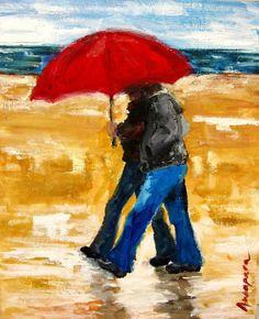 This beautiful and romantic original painting is a great valentine's gift for a love one. $45