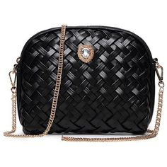 Elegant Weaving and Rhinestone Design Crossbody Bag For Women (36 BAM) via…