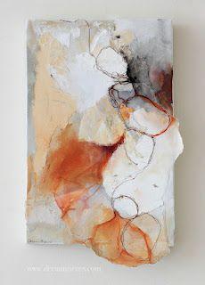 Abstract mixed media art by Deeann Rieves. Art Aquarelle, Encaustic Art, Chalk Art, Oeuvre D'art, Art Blog, Mixed Media Art, Textile Art, Collage Art, Painting & Drawing