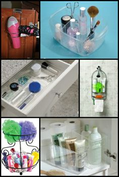 *Clever Container bathroom storage solutions www.mycleverbiz.com/aprildelrio