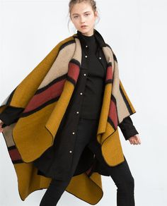 Image 4 of COLOURFUL STRIPED PONCHO from Zara