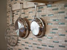 Old interior V-groove wall paneling is fashioned into a pot rack. >> http://www.diynetwork.com/blog-cabin/blog-cabin-2013-kitchen-pictures/pictures/index.html?soc=bc