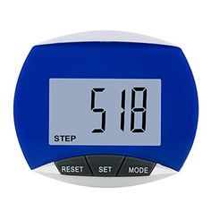 XC518 Multifunction Pedometer with Steps Distance and Calories Auto Sleep Blue >>> More info could be found at the image url.
