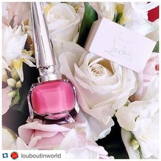"Ashlee Sara Jones on Instagram: ""#Repost @louboutinworld with @repostapp. ・・・ No one has to know you sent them. #TreatYourself #BeauteLouboutin @ashleesarajones Nailed It! #christianlouboutin #louboutinworld #nailedit #nailpolish #pink #pinkismyfavoritecolor #polish #color #roses #love"""