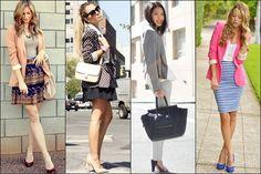 Women Blazer Summer Office Outfits | gorgeautiful.com
