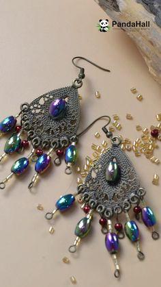 Beaded earrings 583286589220895880 - Tutorial on Fashion Pendant Earrings Source by Beaded Earrings Patterns, Seed Bead Earrings, Diy Earrings, Pendant Earrings, Bead Jewellery, Jewelry Making Beads, Beaded Jewelry, Tribal Jewelry, Jewelry Bracelets