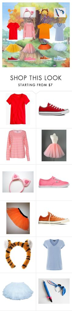 """Pooh and friends group Halloween costume"" by npd531 ❤ liked on Polyvore featuring мода, J.Crew, Converse, Vero Moda, Vans и Warehouse"