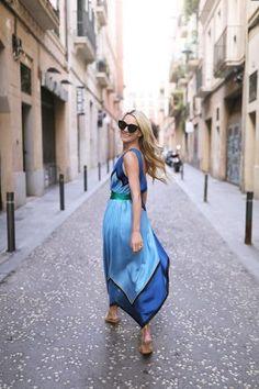 Atlantic-Pacific Blogger // Barcelona DVF maxi dress