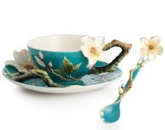 Van Gogh Almond Flower Cup Saucer and Spoon Set