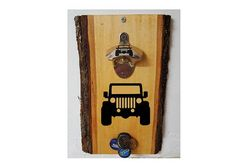 Jeep Bottle Cap Opener With Magnetic Catcher